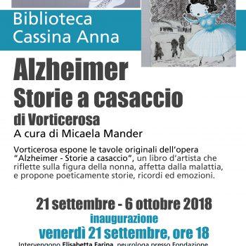 """Alzheimer - Storie a casaccio"" in mostra alla Biblioteca Cassina Anna."